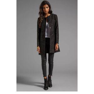 BB DAKOTA Rosette Jacquard black cocktail jacket